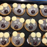 We had fun making these koala biscuits for Australia day