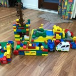 a few of our children worked together to make this model out of Duplo