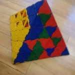 Here's some great pyramid building by one of our children
