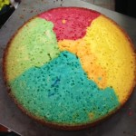 and to finish the week off we made this very colourful rainbow cake