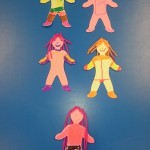 We decorated some paper people to look like our mums