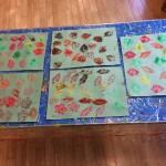 We had fun printing using leaf templates