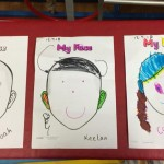 getting to know each other by drawing self portraits