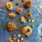 We enjoyed decorating these stones