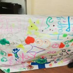 The children made this lovely banner for Katy's birthday
