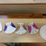 We made some very cute looking paper plate owls