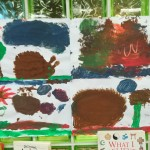 We had fun creating some Autumn paintings