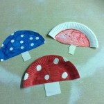 As part of the fairy tale theme we designed our own paper plate toadstools