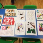 We had fun colouring in our Halloween pictures