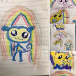 One of our children showed off their drawing talents one night