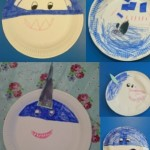 We also made some scary sharks using paper plates