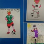 Celebrating the start of the World Cup with colouring...