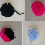 we also made pom pom footballs