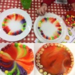 We did a skittle science experiment, which was fun and colourful