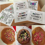 We made cards and cakes for our dads for fathers day