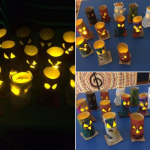 We also made some very spooky looking electric tealight holders