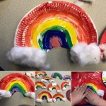 We made some rainbows to celebrate St Patricks Day