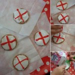 Our decorated St Georges Day biscuits