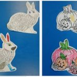 showing off our colouring skills with some lovely Autumn colouring