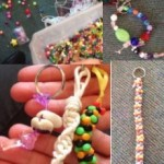 we've also had fun in the mornings making bead jewellery and keyrings