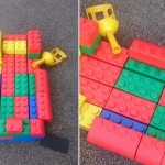 One of our children got creative with the big bricks and made this amazing boat
