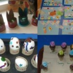 We got creative at easter making hats, collages, decorated eggs and nests