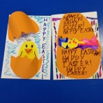 We celebrated Easter by making Easter Cards