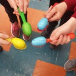 We had an Easter Egg Egg race