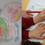 We also coloured in and made some flowers