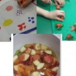 as part of healthy week we designed and made a fruit salad
