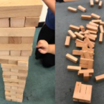 To start off competition week we had a Giant Jenga competition