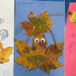 We had great fun making pictures using leaves