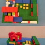 One child got very creative with the Lego
