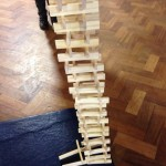 A couple of our children built this huge tower out of wooden bricks