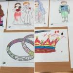 and had fun doing some royal wedding themed colouring