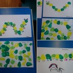 Look at our lovely fingerprint caterpillars