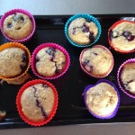 Our delicious Banana and blueberry muffins made during healthy eating week