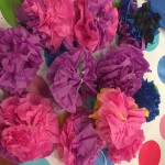 and paper tissue flowers