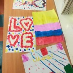 We did some lovely painting for our mums