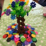 We made this wonderful tree out of the octagons