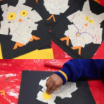 We also made some lovely collage owls for our display