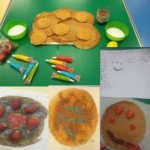 We designed and decorated our own pancakes