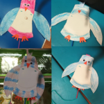 We got creative and made some paper plate owls with moving wings