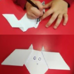 We also made had fun with origami and made some wonderful bats