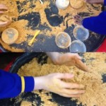 We had great fun playing in the kinetic sand