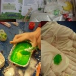 and followed instructions to make slime putty