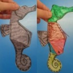 We had fun creating some 3D seahorses