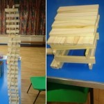 we made this huge tower out of the blocks