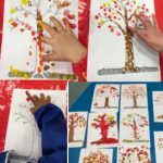 Having some messy fun making finger print trees