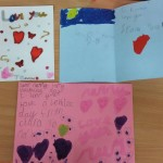 We made some lovely valentine cards